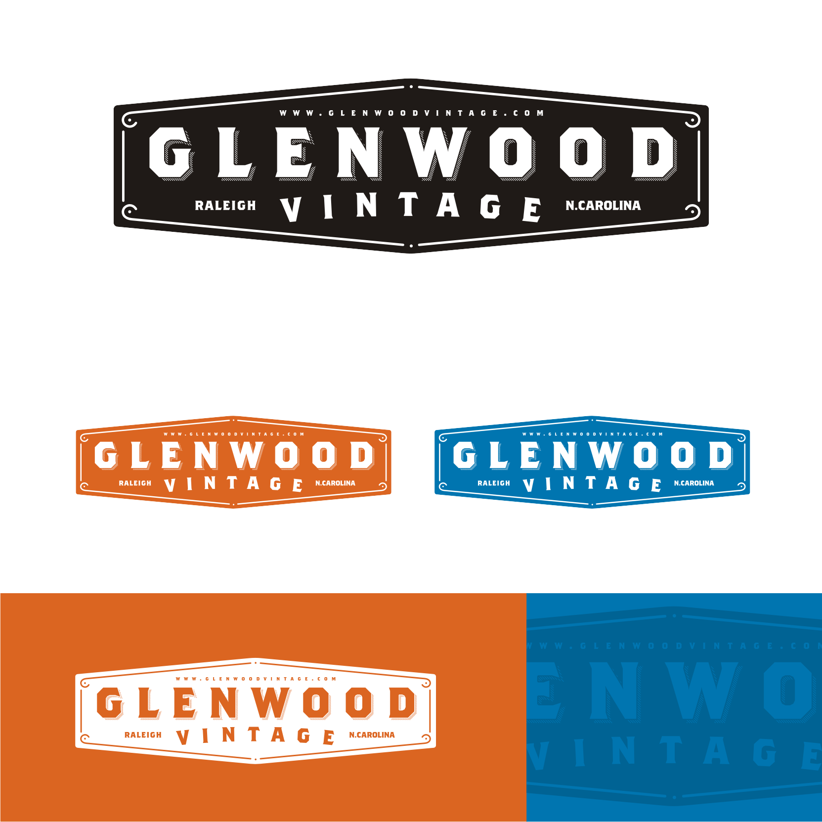 Create the next logo for Glenwood Vintage