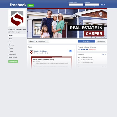 Stratton Real Estate Facebook cover