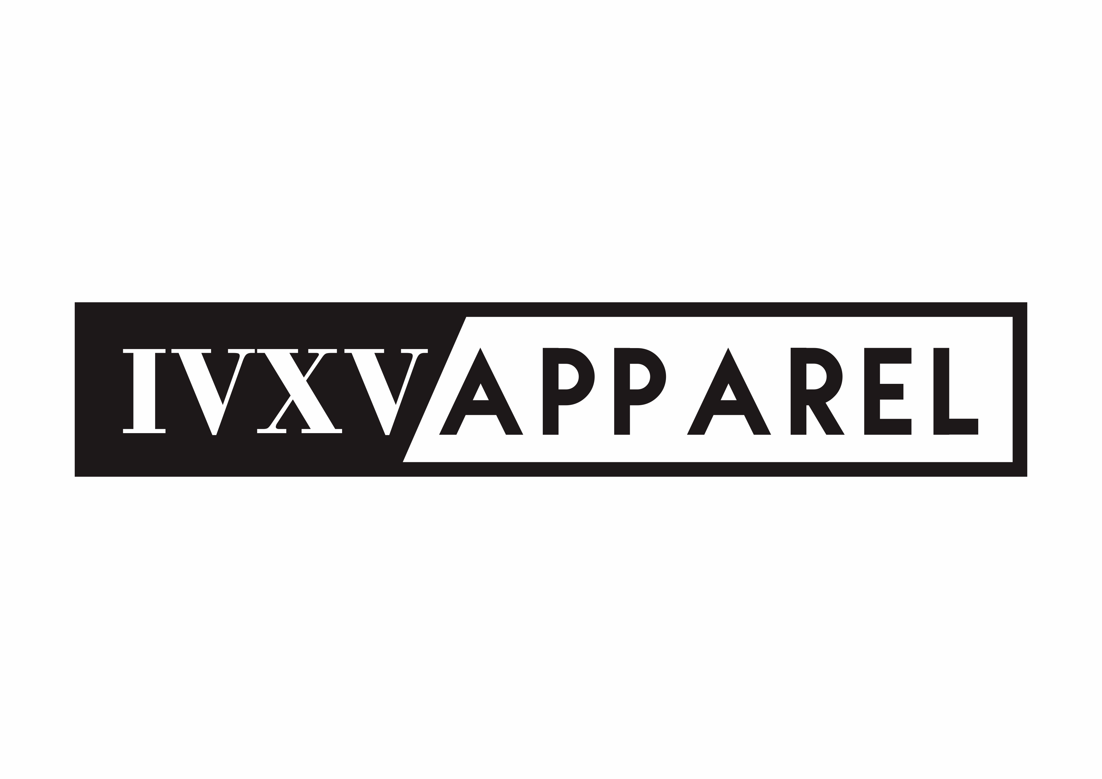 """Create the """"Official"""" brand name logo for our company IVXV Apparel"""