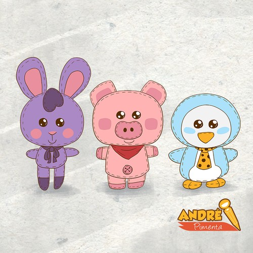 Concept for mascot plushies