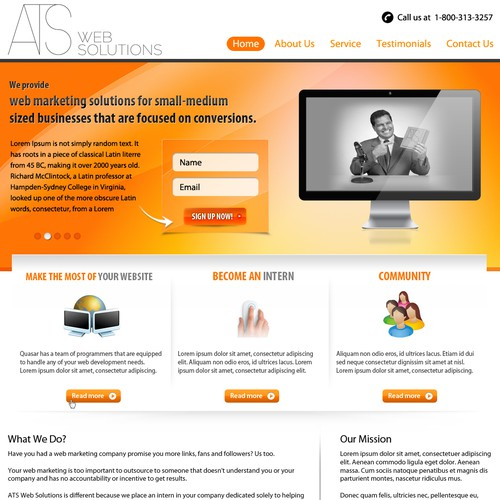 ATS Web Solutions needs a new website design