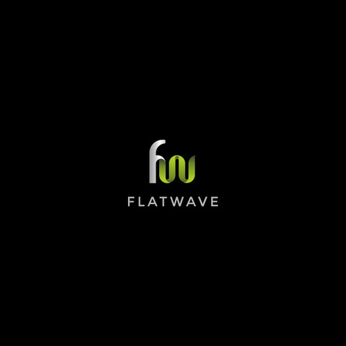 Logo design for flatwave