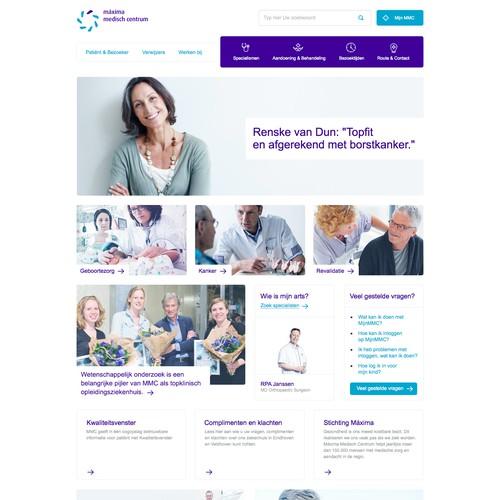 Hospital homepage