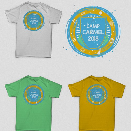 Camp Carmel 2018 Summercamp Back Design