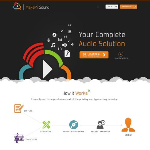 MakeMi Sound Website Design