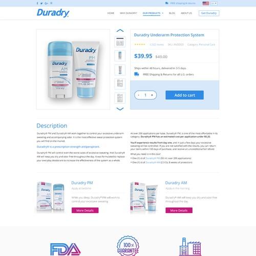 Redesign a fun and clean website! :) Duradry.com