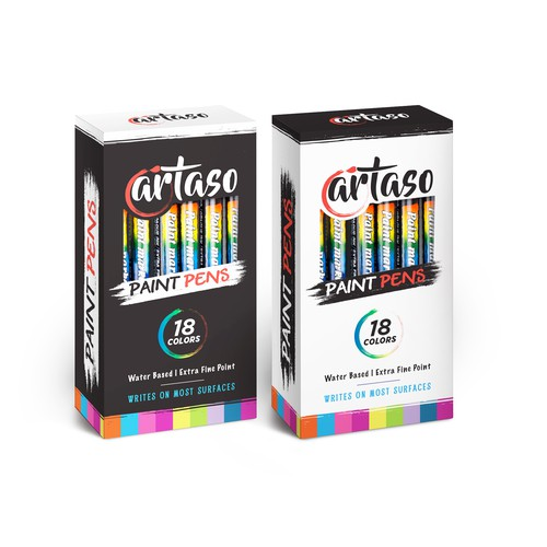 modern box design for Artaso Pint pens