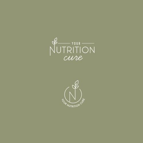 A modern, minimalistic logo for a nutritionist brand