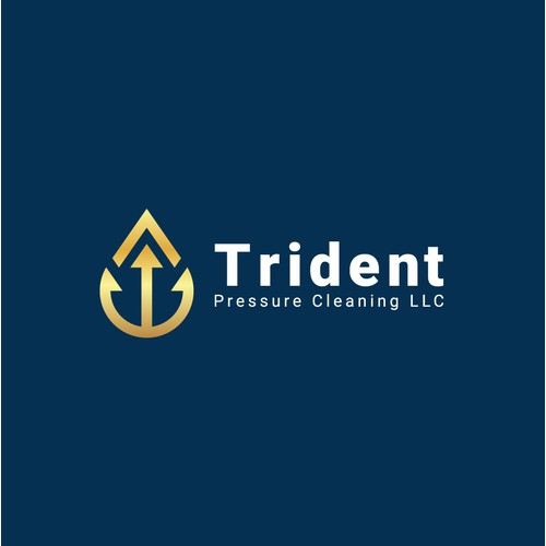 Geometric Trident logo