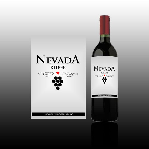 Nevada Ridge wine label