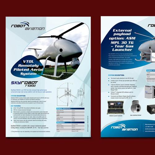 High-Tech Robot Aviation Flyer