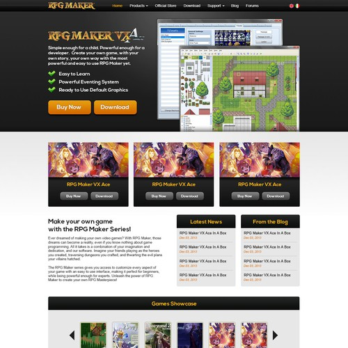 Web Design for a Game Engine