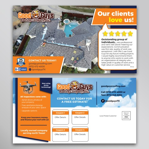 Roofing Contractor Client Card