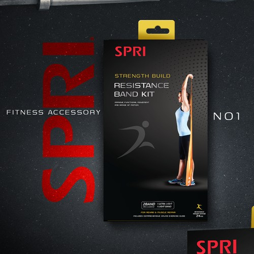 SPRI Fitness Retail Packaging Design