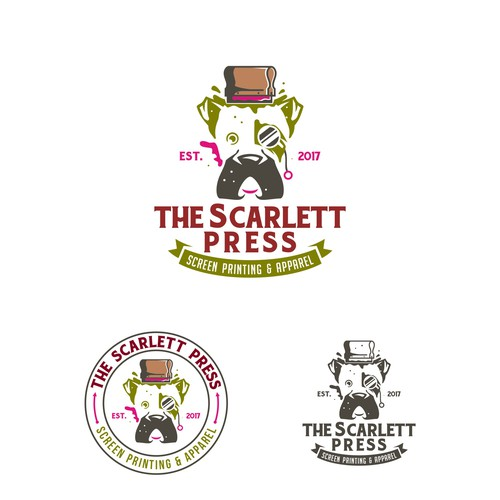 logo for Scarlett press
