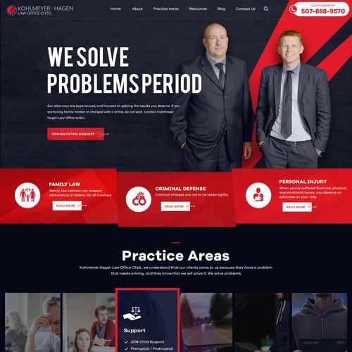 Kohlmeyer Hagen, Law Office Chtd Landing Page Design