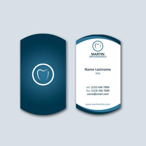 Business card for Martin Orthodontics