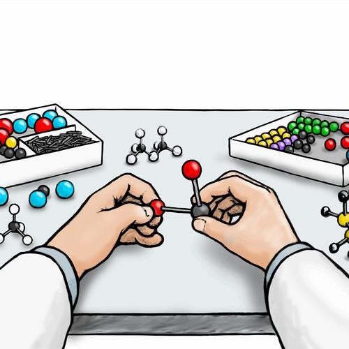 Molecular modeling kit
