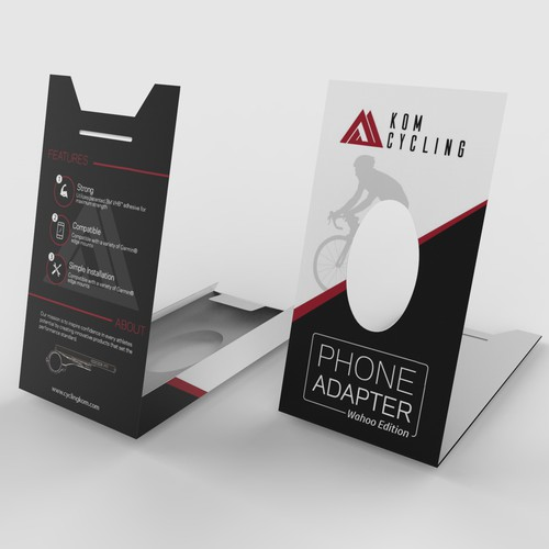 Packaging for a phone adapter for bikes