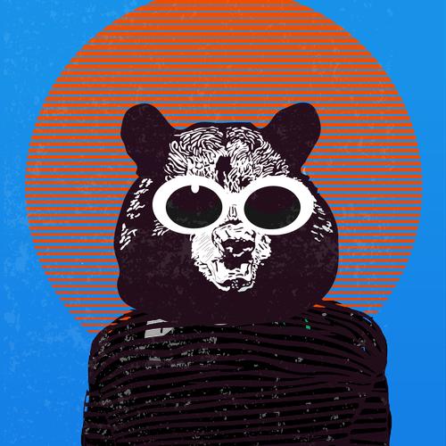 hipster kurt cobain bear