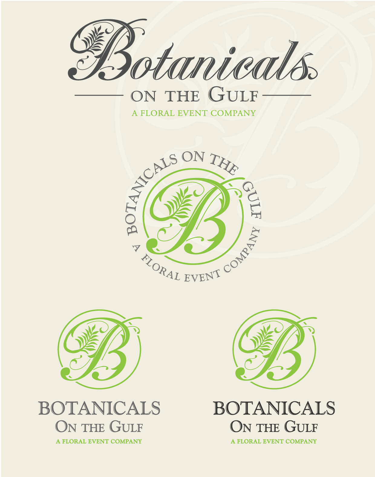 Botanicals on the Gulf needs a new logo