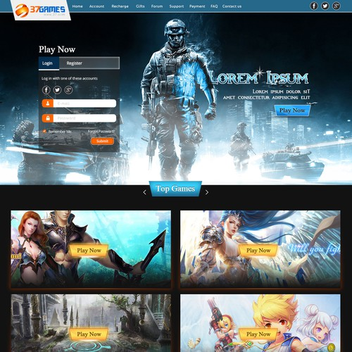 Create a Gaming Website!
