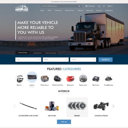Shopify Theme Design for Auto Parts E-commerce