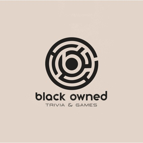 Minimal logo concept for Black Owned Trivia and Games