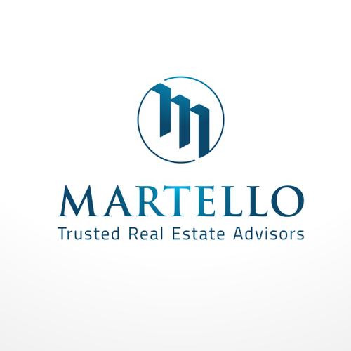 Reimagine a logo for Martello, a regional real estate advisory firm