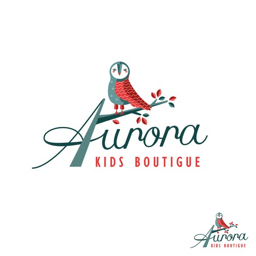Beautiful, stylish logo design AURORA