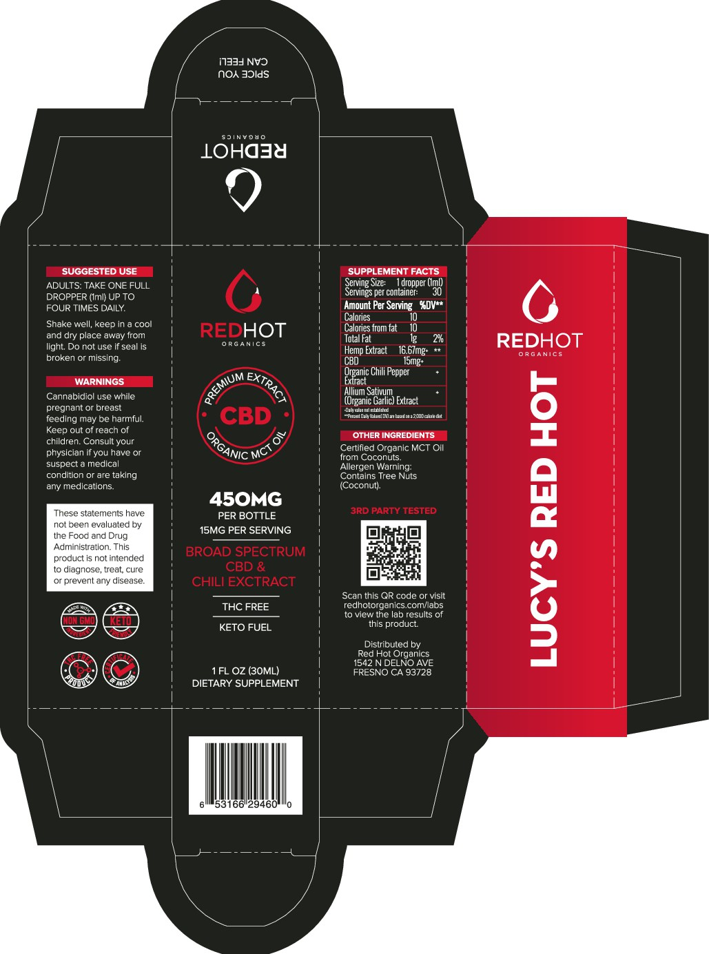 Lucy's Red Hot 1oz Label and Box Revisions