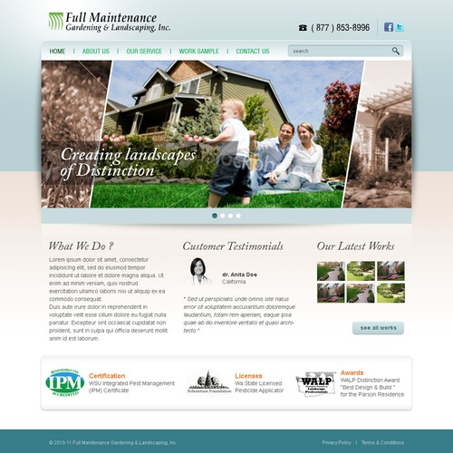 website design for full maintenance gardening