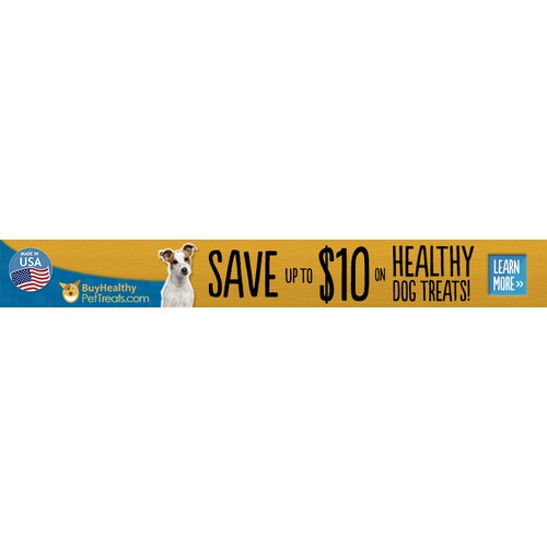 Web Banner Ad for BuyHealthyPetTreats.com