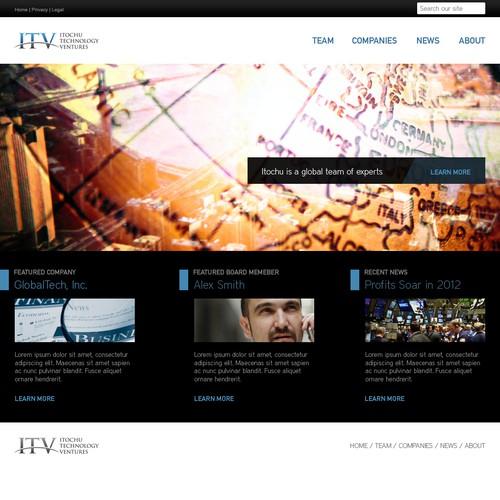 Website design for ITV