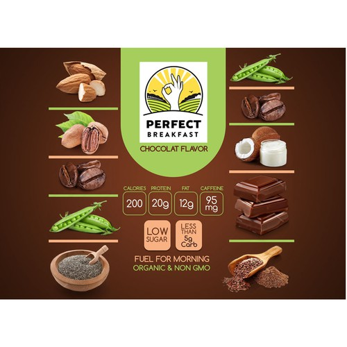 Concepto etiqueta sabor chocolate