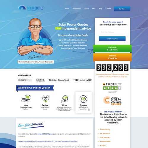 Website for a green energy company