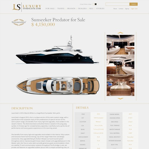 Website Design for Private Aviation, Yacht, and Real Estate
