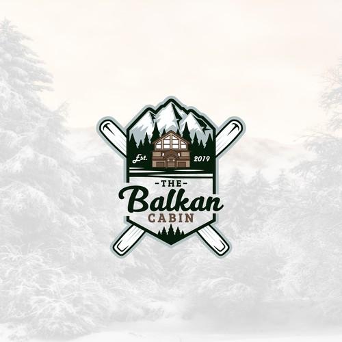 AirBNB Ski Chalet Logo - The Balkan Cabin