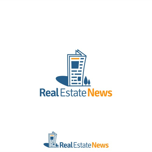 Logo concept for Real Estate News