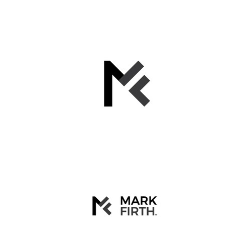 A monogram logo concept for a personal brand of the business coach/mentor