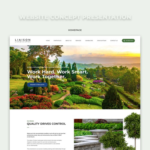Landscape Website concept