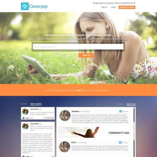 Hey great designers, meet Cloverpop.com! Hot SF startup needs modern, beautiful, emotional design.