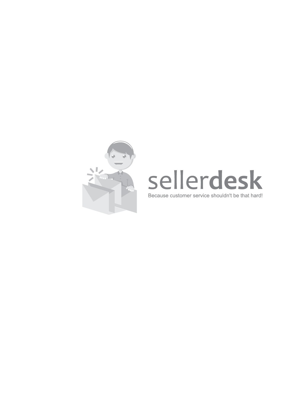 Design a unique minimalistic or cartoon logo for Amazon Helpdesk