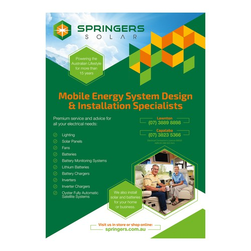 Multiple Ads for Springers Solar