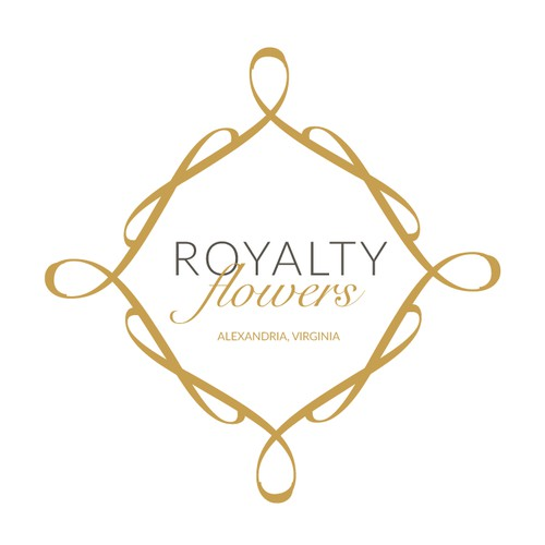 Create a sophisticated and stylish logo for Royalty Flowers Inc.