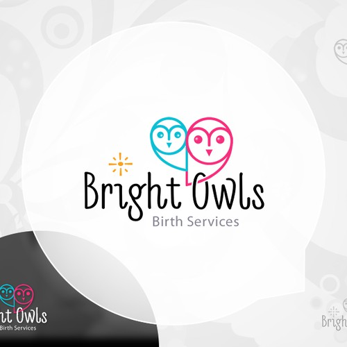 Craft a new brand identity for Bright Owls Birth Services
