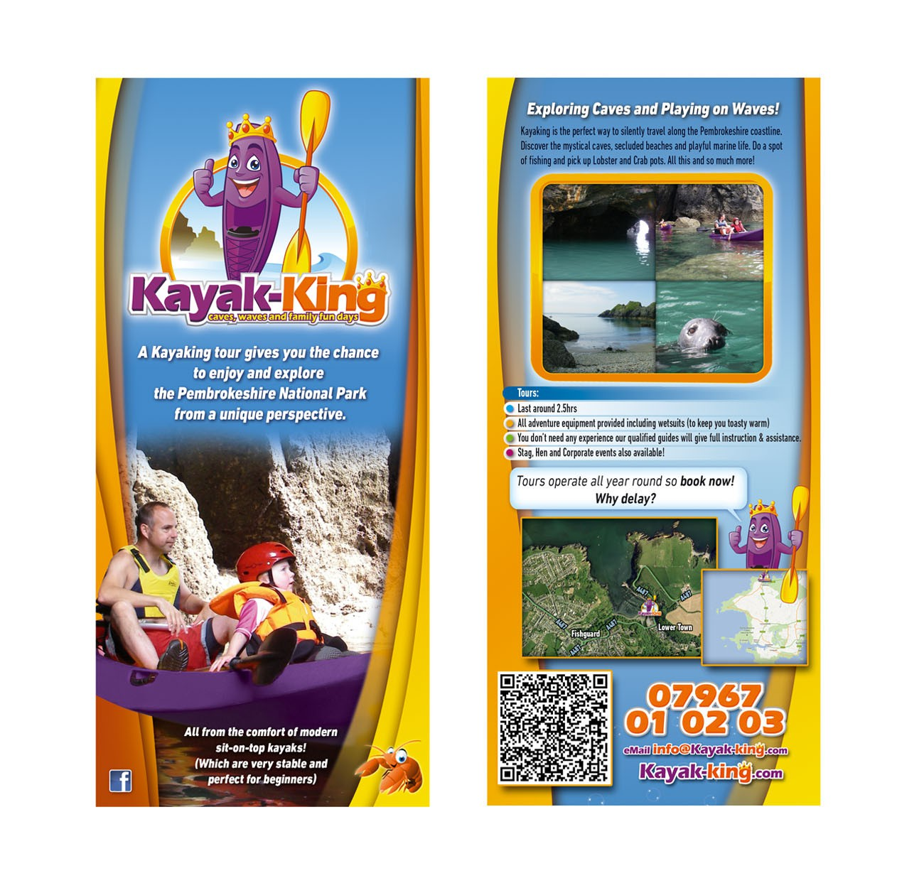 DL two-sided flyer for Kayak-King! (Take a look for a fun guaranteed project!)