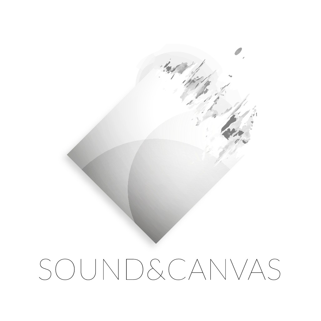 Design an artistic logo for a young music and creative studio Sound & Canvas