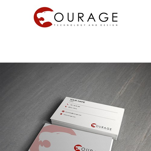Courage needs a new logo and business card