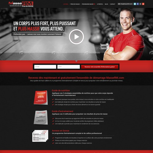 New landing page wanted for MasseRM.com